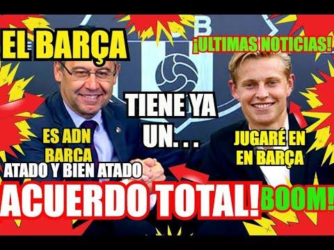 ¡¡EL BARÇA y DE JONG ATADO y FICHADO !! ¡ ÚLTIMA HORA ! FC BARCELONA NOTICIAS y RUMORES