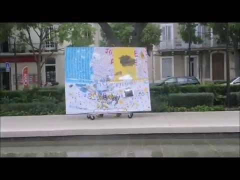 """""""Quand la peinture de salon descend dans la rue"""" Nîmes - Joris Brantuas - abstraction libre"""