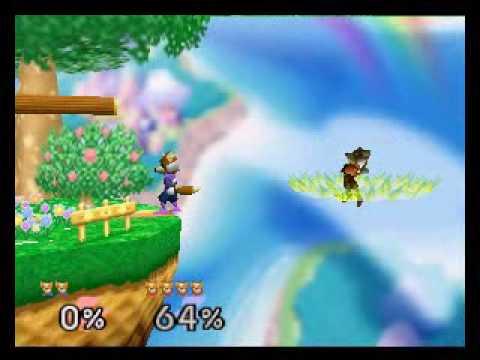 SSB64 Online:  \\ª{[Ð-Ñ]}ª{I}mNotPro[A-G]× (Blue Fox) vs [§§ß] K¡rØ× (Red Fox) R2