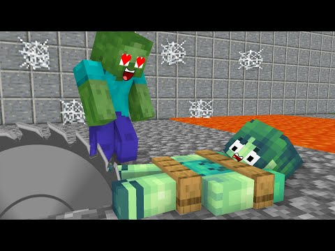 Monster School : Zombie Family Sad Life - minecraft animation  