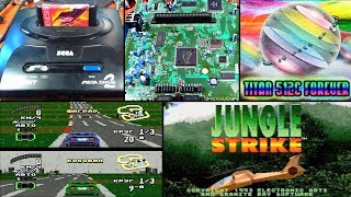 Оригинальная Sega Mega Drive 2 и flash-картридж [Запись]