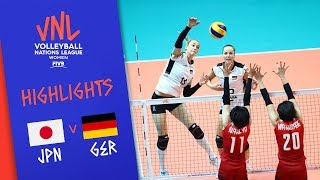 JAPAN vs. GERMANY -  Highlights Women | Week 2 | Volleyball Nations League 2019