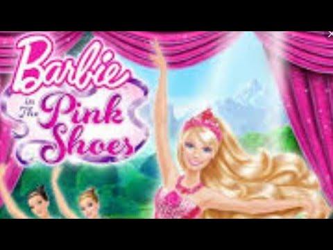 كرتون باربي والحذاء الوردي