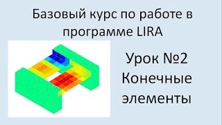LIRA Sapr Урок №2 Виды конечных элементов