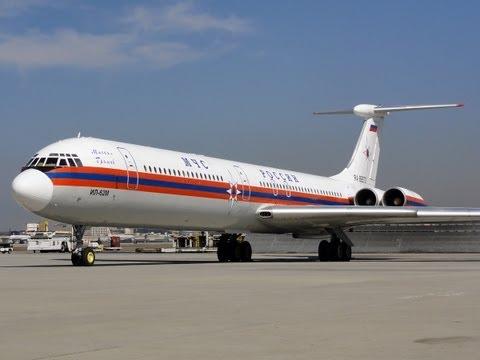 МЧС России Ilyushin Il-62M [RA-86570] Engine Start Up, Taxi, and Takeoff