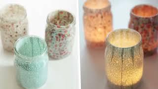 Украшение из стеклянной банки  Как украсить дом своими руками