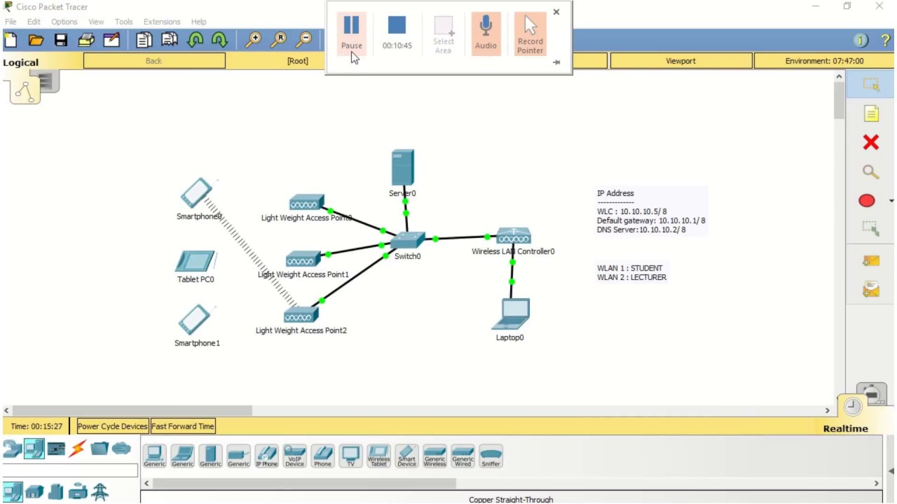 Packet Tracer: WLC-2504 Configuration