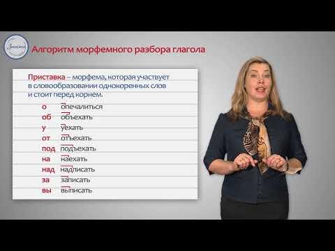 Русский 4 Разбор глагола по составу