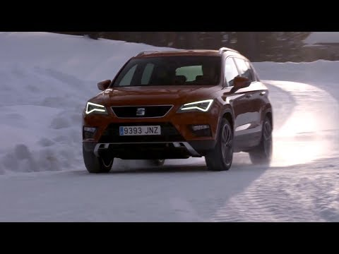 Seat Ateca ice driving with Juha Kankkunen