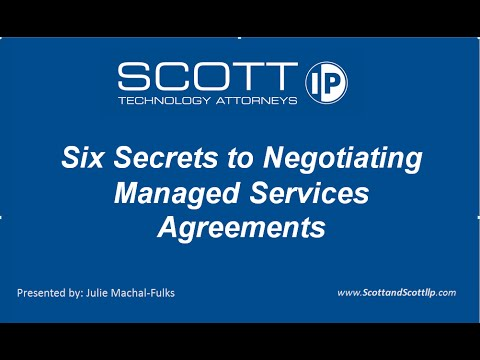 Six Secrets to Negotiating Managed Services Agreements