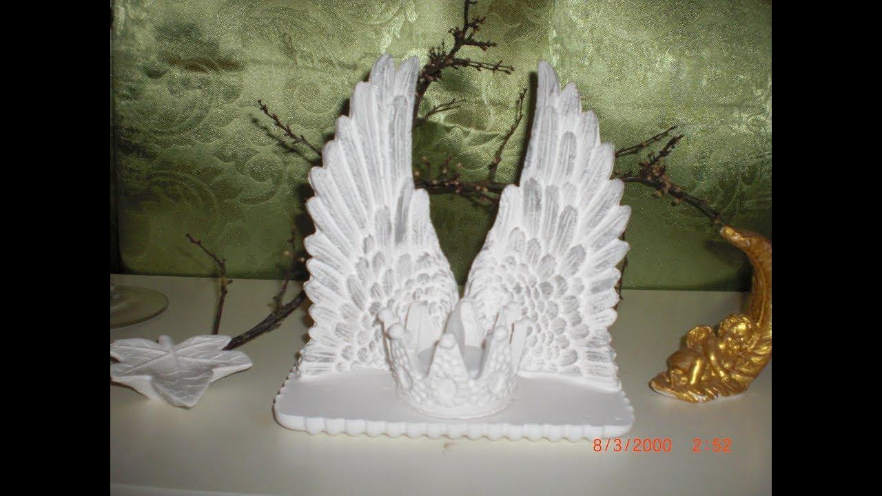 diy engelfl gel windlicht im vintage style f r weihnachten aus keramik ganz einfach youtube. Black Bedroom Furniture Sets. Home Design Ideas