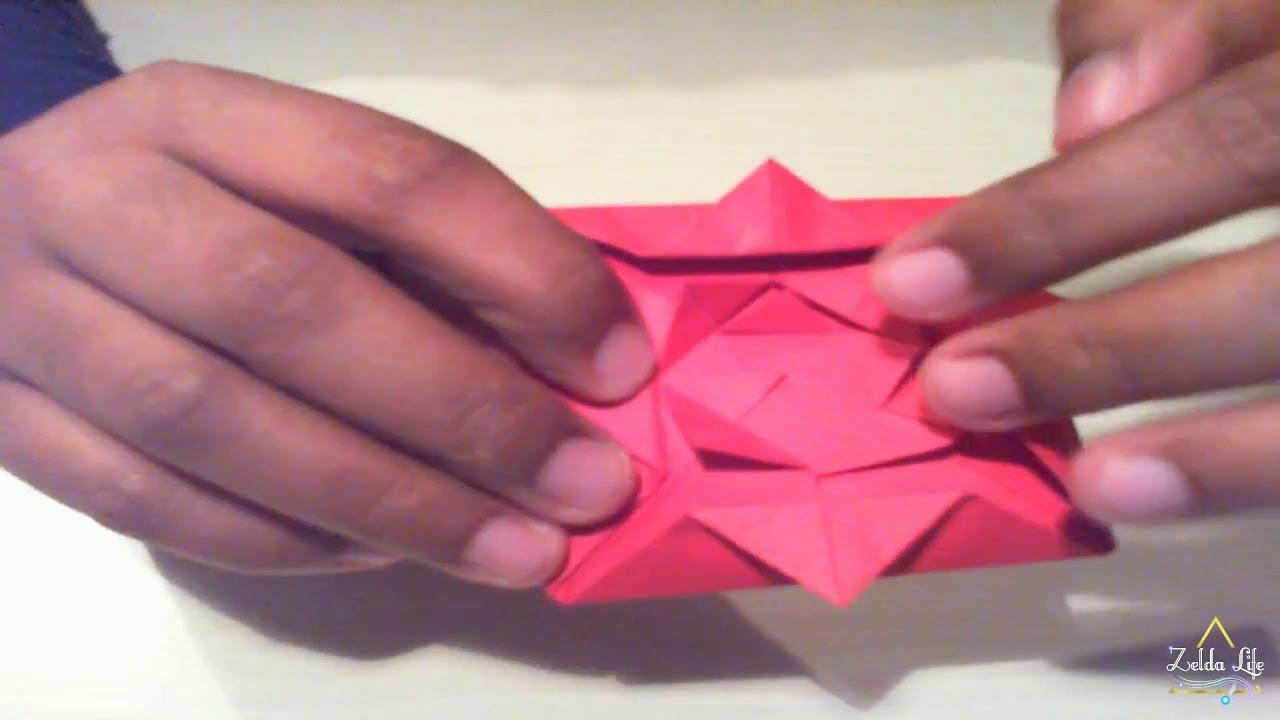 Fr Niveau Debutant Origami Rose Facile Youtube