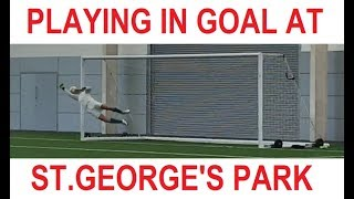 Playing in Goal at St.George's Park | England FA National Football Centre | Home of English Soccer