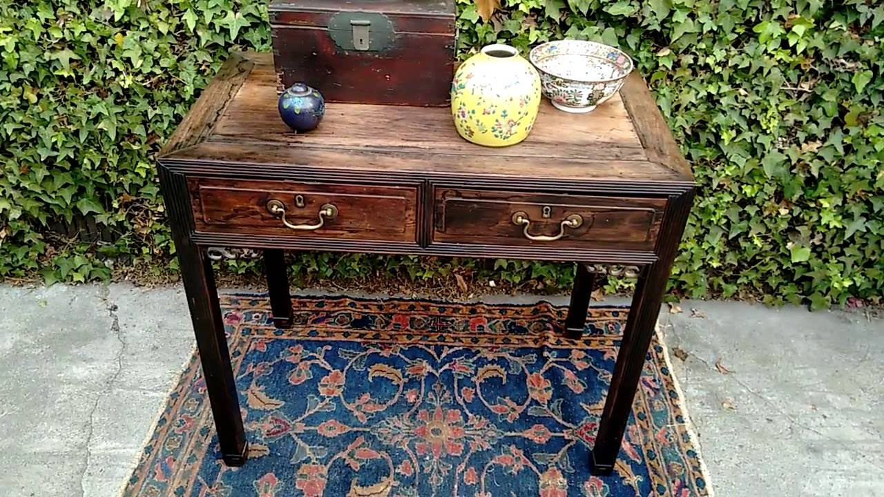 Drew strikes again a valuable antique chinese console table a valuable antique chinese console table american pickers geotapseo Gallery