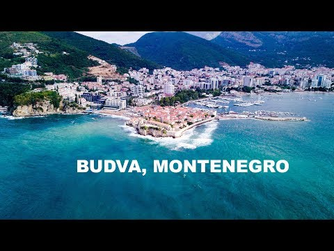 Drone Flight Budva, Montenegro, Sveti Nikola and Tvrdava Mogren 4K DJI MAVIC Pro Aerial Avala Resort