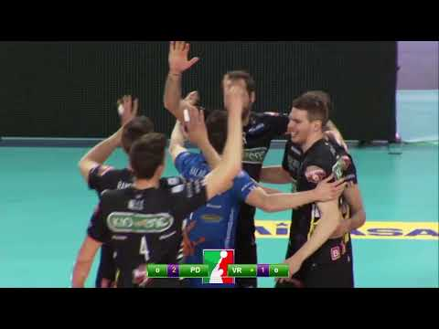 Gli highlights di Kioene Padova – Calzedonia Verona 3-2