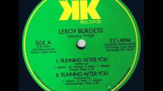 "Leroy Burgess featuring Angel - ""Running After You"" US Konkrete 12"" (1991)"
