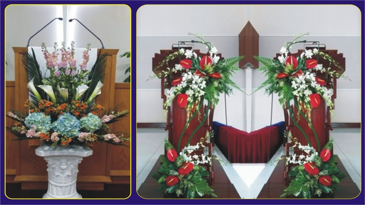 Lover Of Church Wedding Flower Arrangements Church Floral Images Youtube