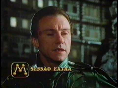 """Inserção de Caracteres da """"Sessão Extra"""" durante filme exibido na Tv Manchete, 1996."""