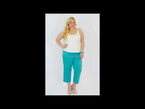 Трикотажные брюки женские больших размеров - YouTube