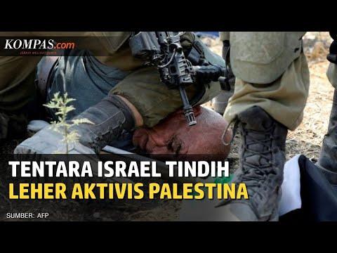 Viral Foto Tentara Israel Tindih Leher Aktivis Lansia Palestina Dengan Lututnya