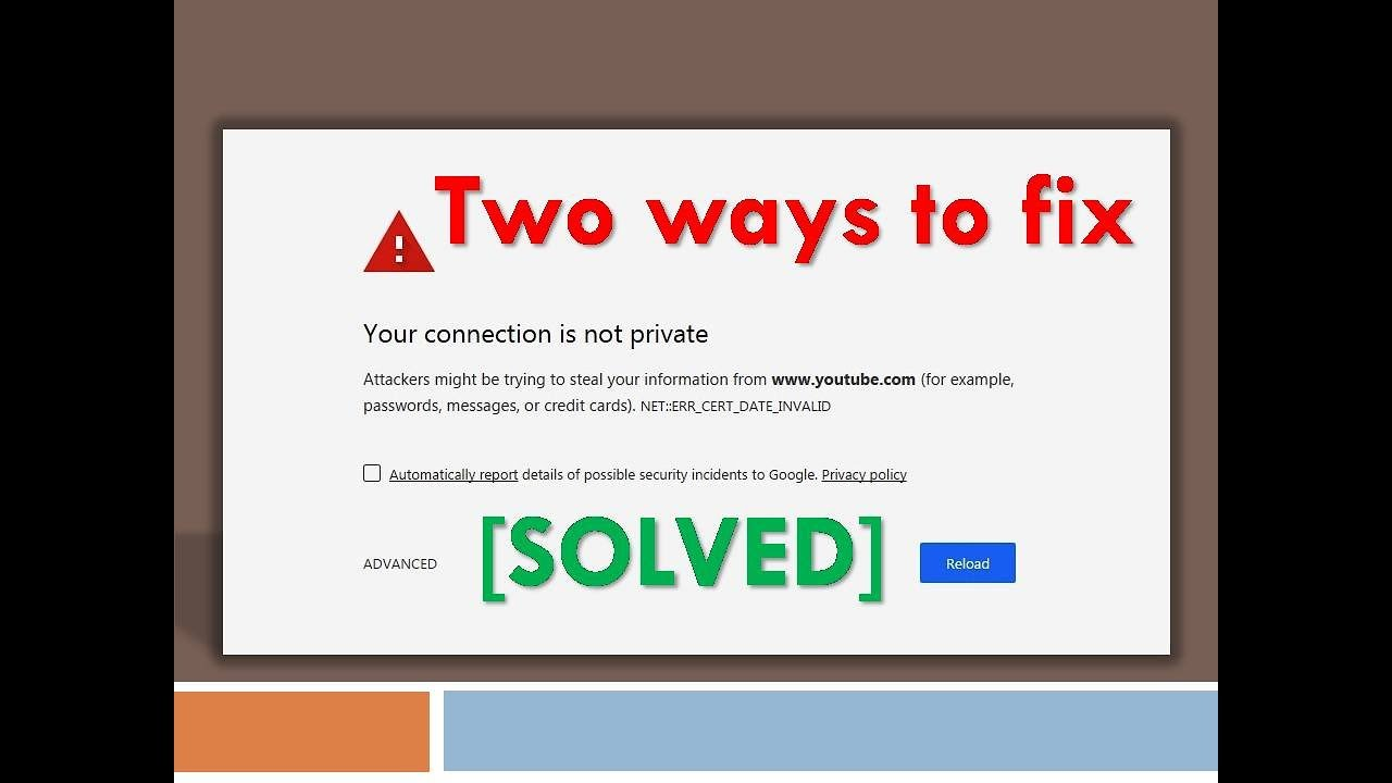 Your connection is not private[Solved] - Two ways to fix it IN LESS THAN 3  MIN | Google chrome| 2018