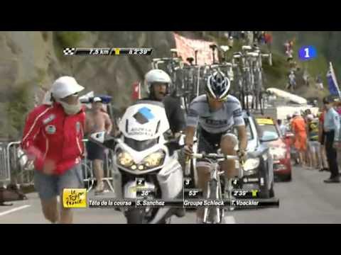contador La subida a Alpe d'Huez, íntegra Tour 2011