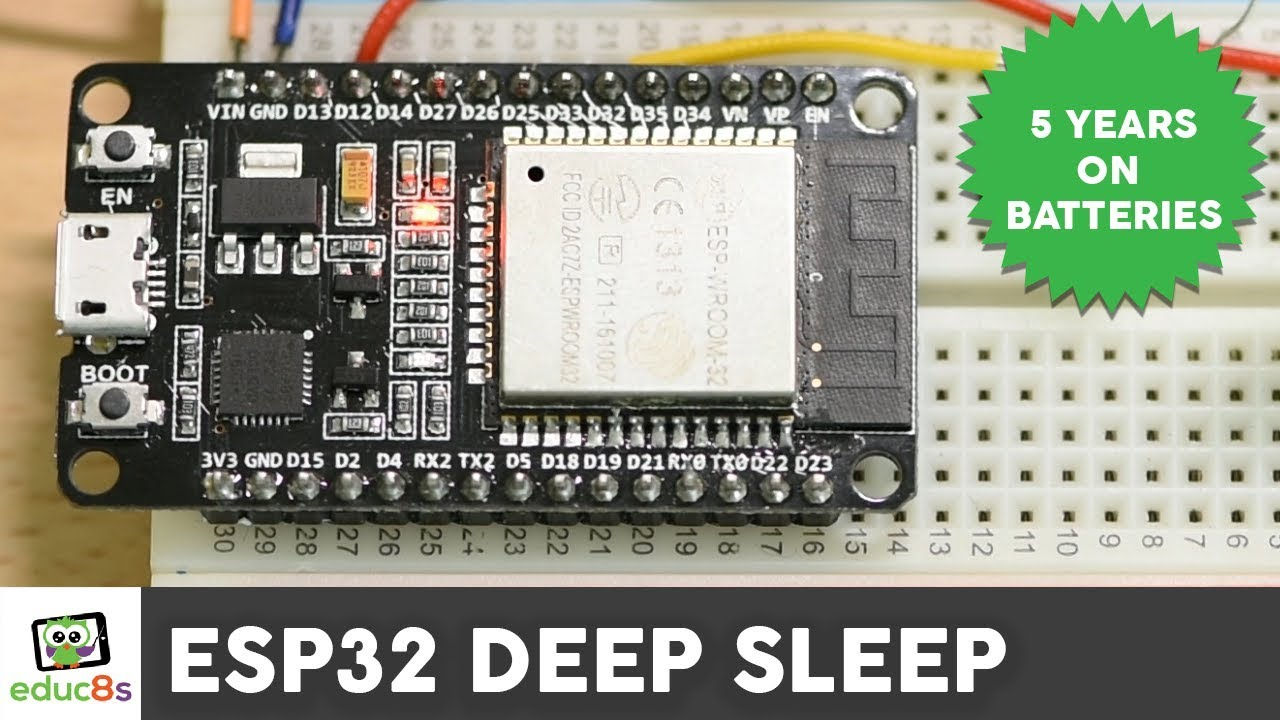 ESP32 Deep Sleep Tutorial for Low Power Projects