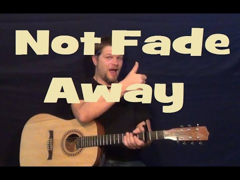 Not Fade Away (Buddy Holly) Easy Guitar Lesson How to Play Strum Chords Tutorial Licks