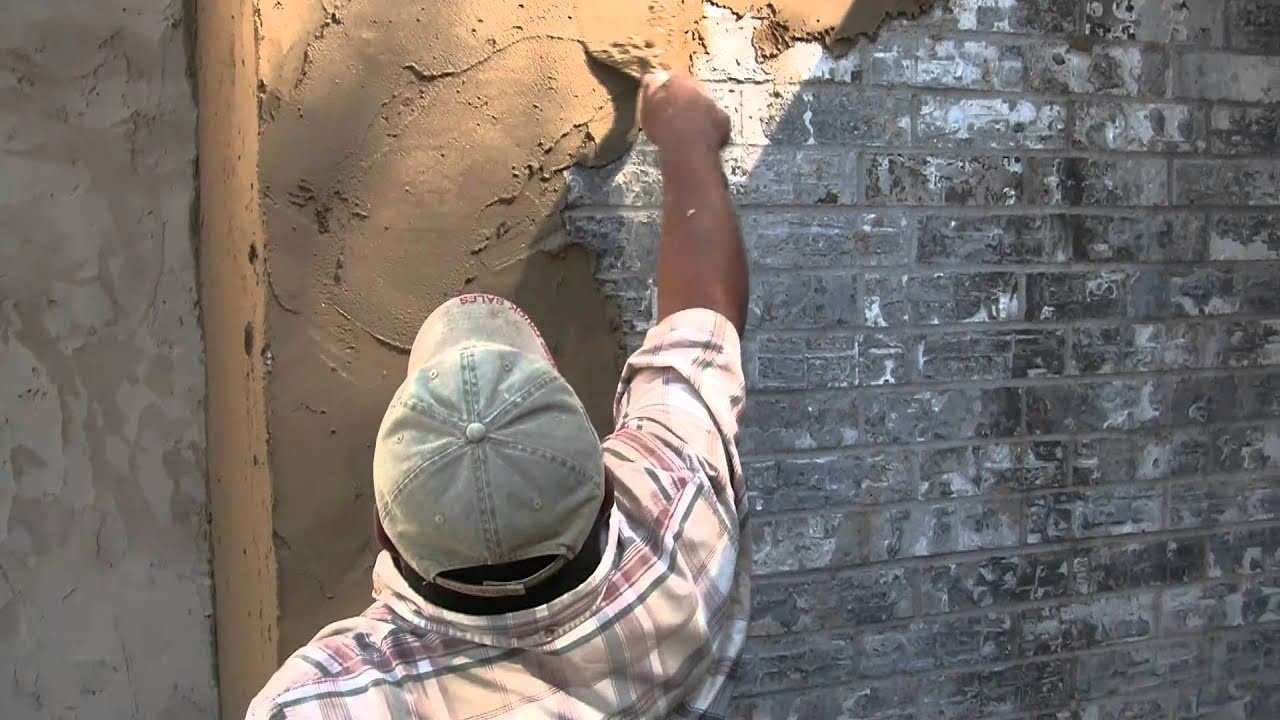 Brick Stucco Rub Youtube