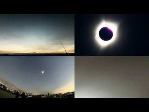 Total solar eclipse.  Madras, OR.  Uncut.