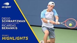 Ričardas Berankis vs Diego Schwartzman Highlights | 2021 US Open Round 1