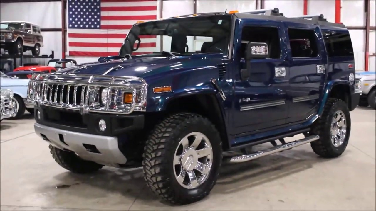 2008 hummer h2 blue youtube