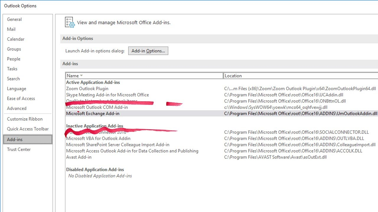Disable Microsoft Outlook Add-ins - Online Computer Tips