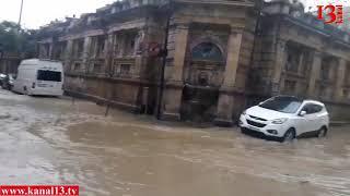 Bakıya yağan güclü yağış şəhəri iflic etdi - (Kanala abunə olun)