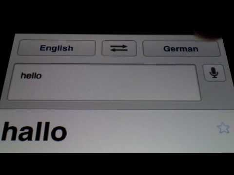 Google Translate on iPad / iPad 2 / iPhone / iPod Touch HD