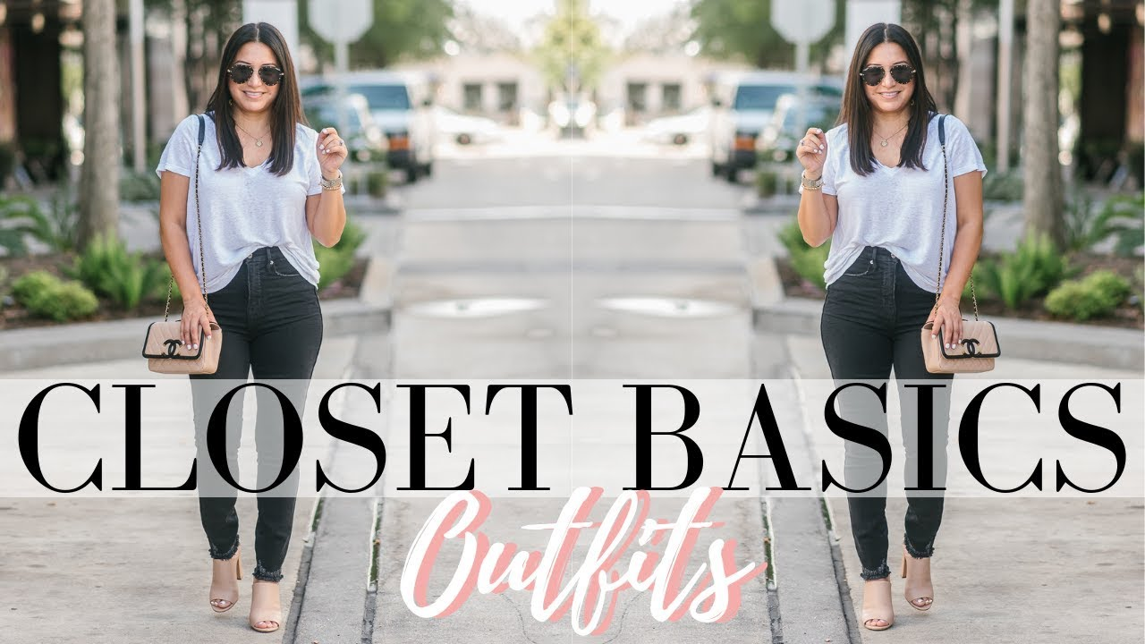 CLOSET BASICS OUTFITS - 20 Outfit Ideas with Closet Basics | LuxMommy