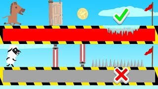 PICK The RIGHT PATH In Ultimate Chicken Horse! (lucky & unlucky)