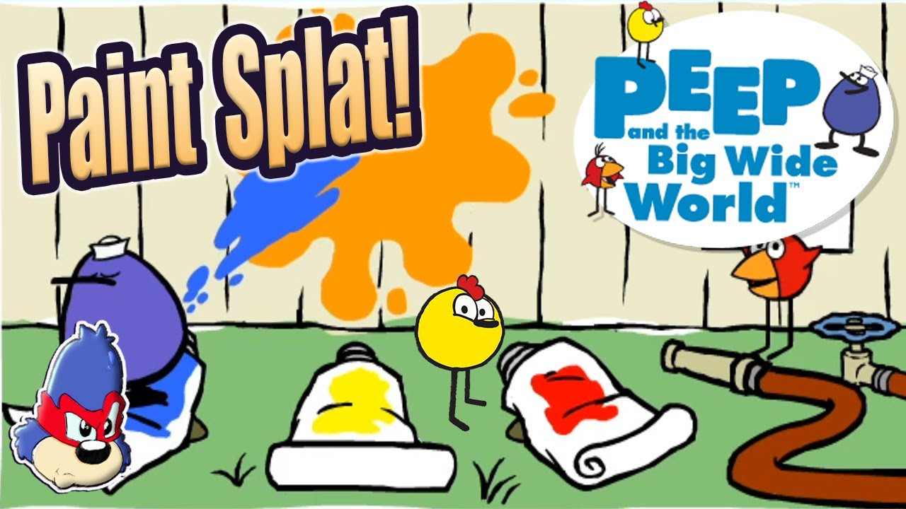 Download PBS Kids | Peep and The Big Wide World Games | Paint Splat | Learning Colors For Kids