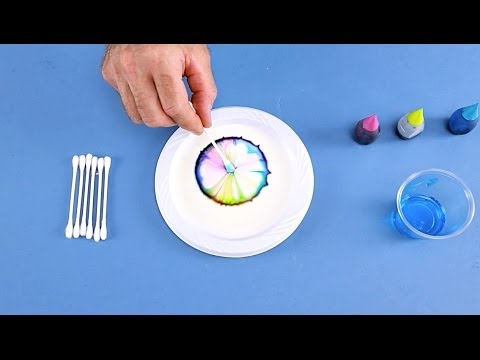 Interactive Colors in Milk -- Chemistry for Kids