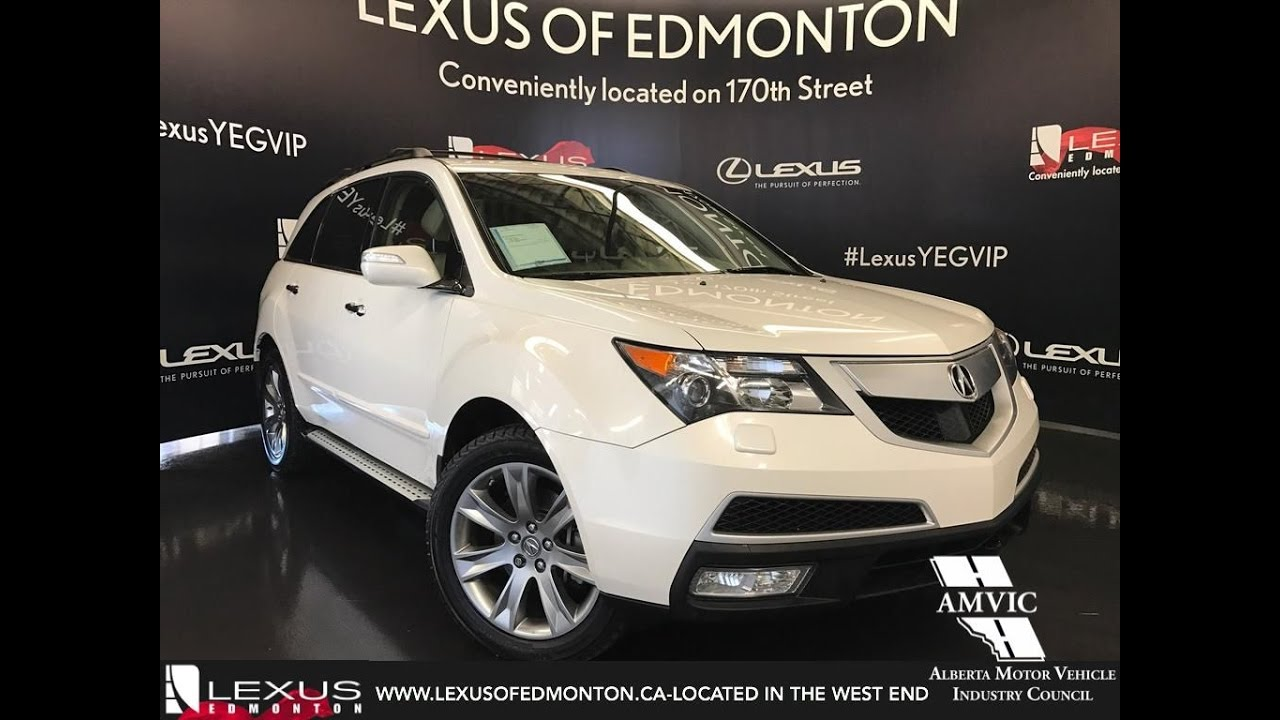 used 2012 white acura mdx awd advance entertainment pkg in depth