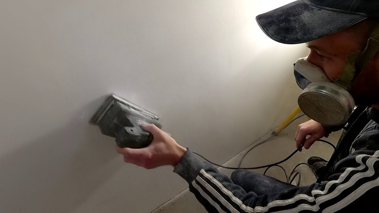 Как шкурить стены быстро и легко. Подготовка под обои