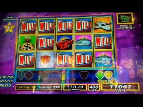 Wheel of Fortune Wild Gems Slot Machine *DOUBLE BONUS* Big Win! - 동영상