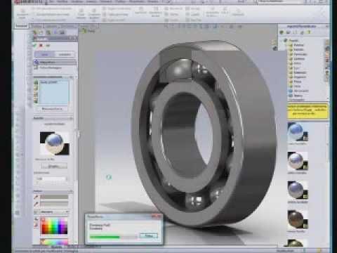 Solidworks cuscinetto a sfere da disegno dwg youtube for Disegno 3d free