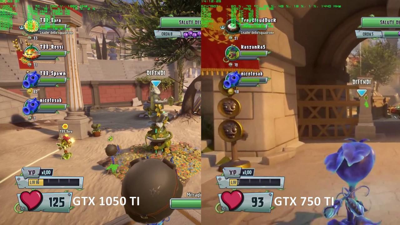 Nvidia GTX 1050 TI vs GTX 750 TI - PvZ Garden Warfare 2 PC Gameplay ...