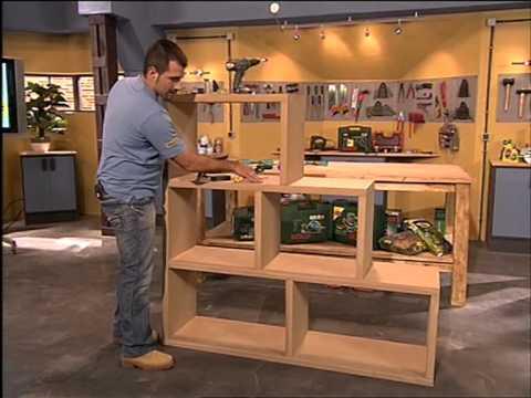 C mo hacer una estanter a modular decorativa youtube - Como hacer estanterias de madera ...