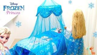 エルサ お姫様ベッド ディズニー プリンセスベッド / DIY Frozen Elsa Bedroom Canopy Bed : Disney Princess thumbnail
