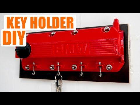 Schlüsselbrett aus Ventildeckel selber bauen. BMW E30