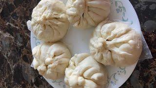 Making Vietnamese dumplings-Làm bánh bao nhân thịt, lạp xưởng và trứng
