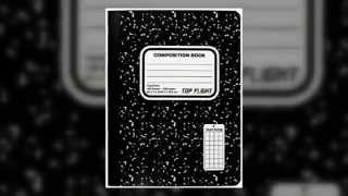 BACK TO SCHOOL Marble Cover Composition Book, Top Flight Sewn Black/White, Quad Rule, 100 Sheets